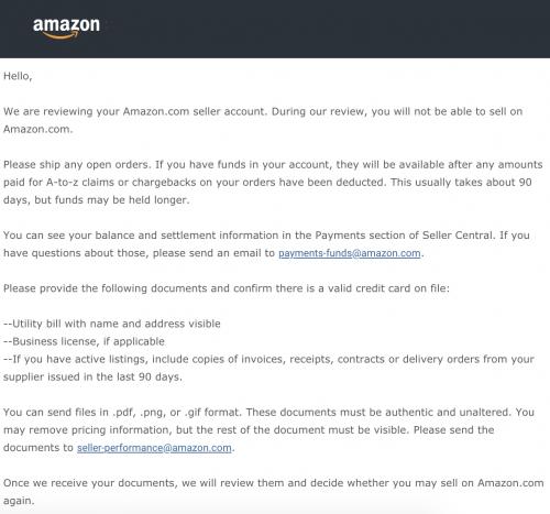 как пройти утилити We are reviewing your Amazon.com seller account запрос на утилити амазон 2019