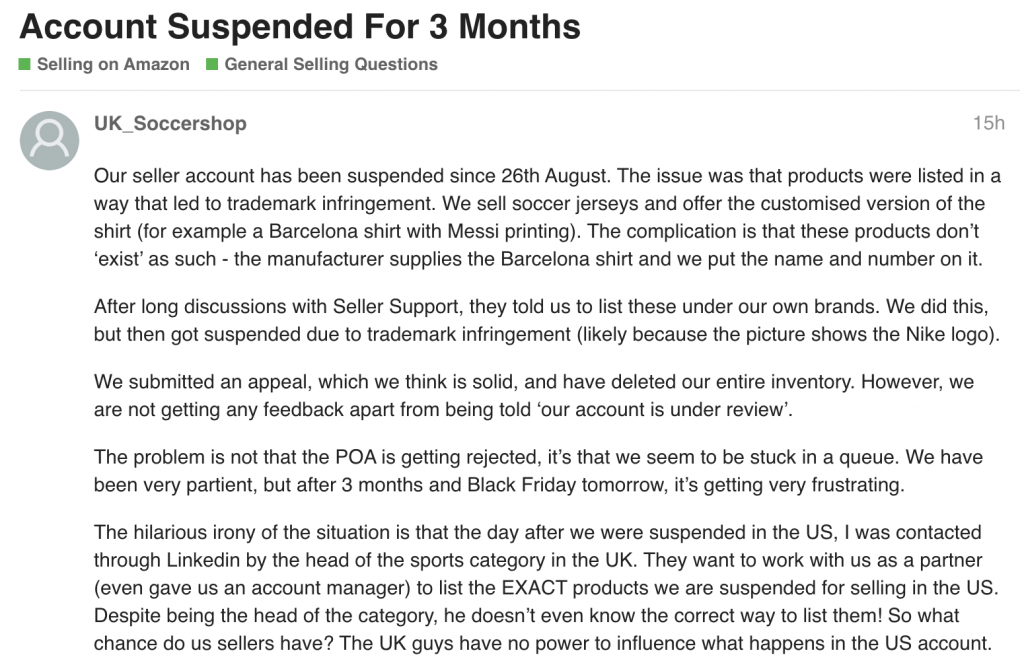 amazon account suspended 2019