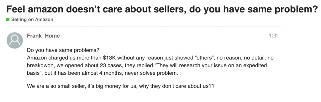 amazon does not care about sellers 2019