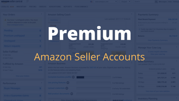 premium amazon seller account updates 2020