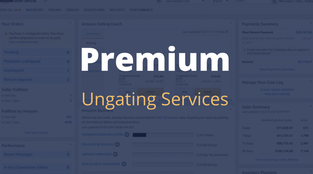 premium ungating services ungate any restricted category or brand on amazon 2020