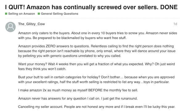 amazon keeps banning and blocking sellers