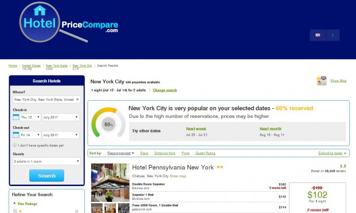 hotelpricecompare.com