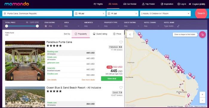 momondo.com hotels